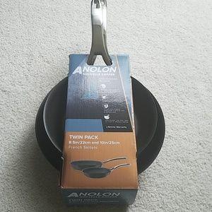 Anolon Nouvelle Copper skillets